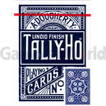 Playing cards Tally-Ho Fan back (blue)