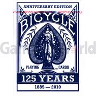 Игральные карты Bicycle Decks 125 Years Anniversary Edition (синие)