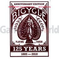 Игральные карты Bicycle Decks 125 Years Anniversary Edition (красные)