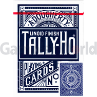 Playing cards Tally-Ho Circle back (blue)