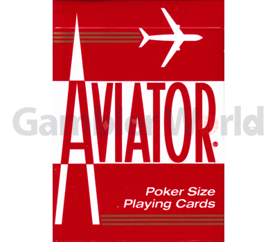 Playing cards Aviator (red)