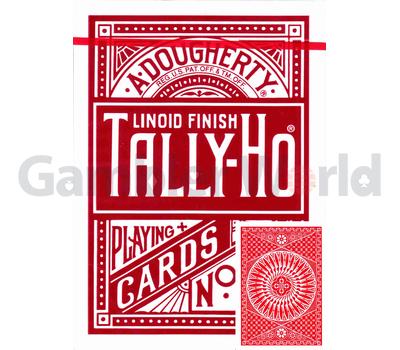 Игральные карты Tally-Ho Circle back (красные)