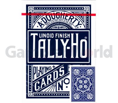 Игральные карты Tally-Ho Fan back (синие)