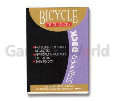 Игральные карты Stripper Deck Bicycle (Красные)