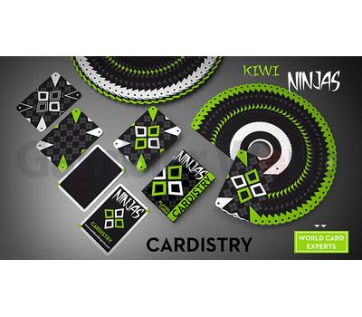 Игральные карты Cardistry Kiwi Ninjas (Зелёные)