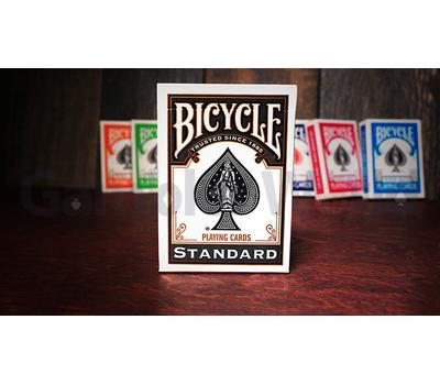 Игральные карты Bicycle Rider Back Standard (чёрные)