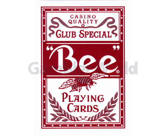 Playing cards Bee Stingers (red)