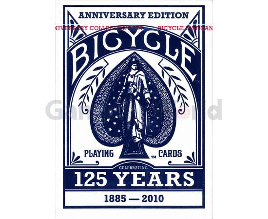 Игральные карты Bicycle Decks 125 Years Anniversary Edition (синие)