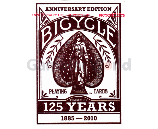Playing cards Bicycle Decks 125 Years Anniversary Edition (red)