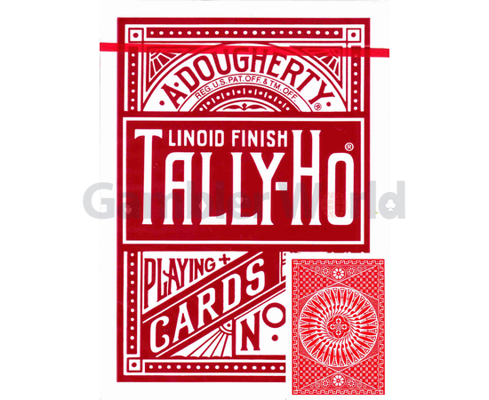 Playing cards Tally-Ho Circle back (red)