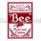 Игральные карты Bee Stingers (красные)